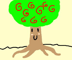 a happy little tree here