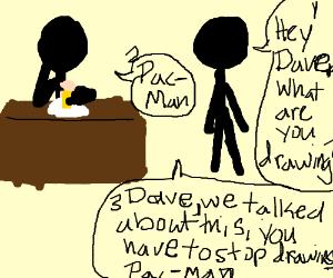Dave draws pac-man AGAIN