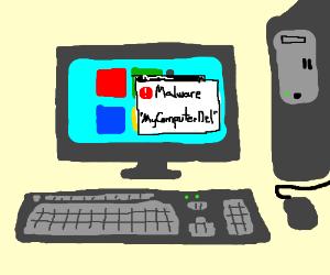 Windows has found malware called MyComputerDel