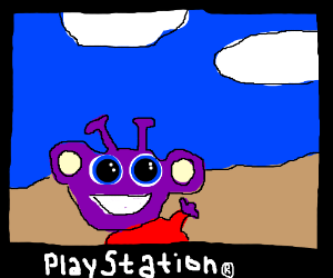 Purple Alien Game on PlayStation