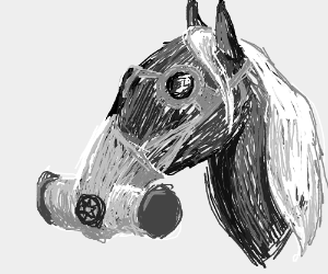 Horse with a Gas Mask