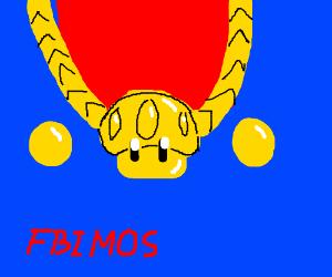 Golden Mushroom necklace x FBIMOS hat