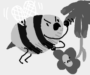 bee is really pissed off