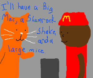 cat orders from mcdonalds