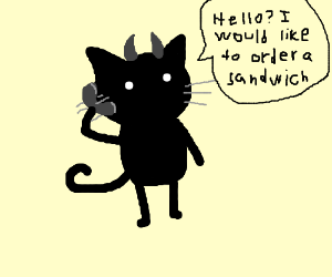 Black Cat Demon Orders a Sandwich