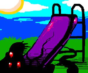 Super fun happy slide