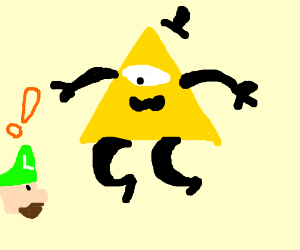 Luigi meets eyeless Bill Cipher