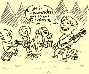Campfire Sing Along Drawing By Evensen