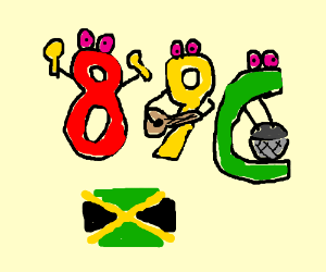 8, 9, and the letter C are reggae musicians.