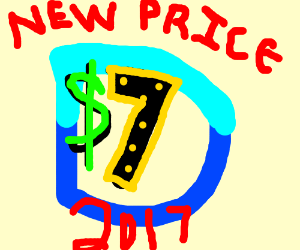 In 2017 playing drawception will cost $7