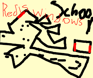 school map drawed by a blind man