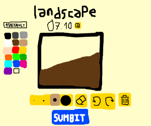 Drawing a landscape on Drawception
