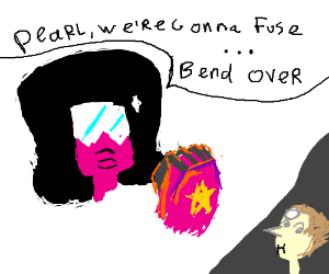 garnet  is fusing with pearl wierdly O.O