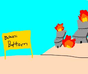 Bikini Bottom is on fire, somehow