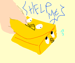 A sticky note cries for help