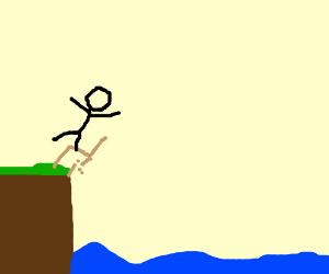 Someone falling