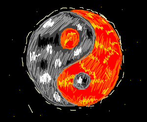 Fire Ice Yin Yang Planet Drawception