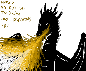 heres an excuse to draw cool dragons pio drawception