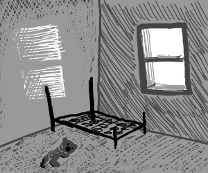 Childs Bedroom In Old Abandoned House