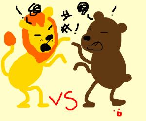 lion vs bear