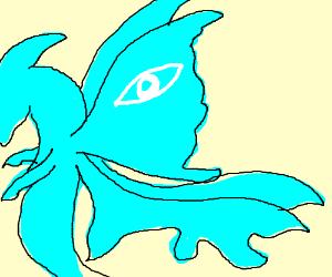 Illuminati seahorse with wings