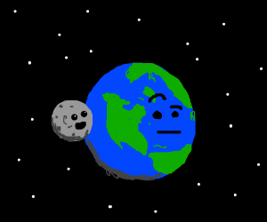 Moon really close to earth