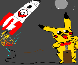 Pikachu makes team rocket blast off again