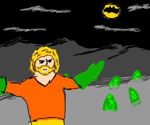 Aquaman rises his fish army against batman