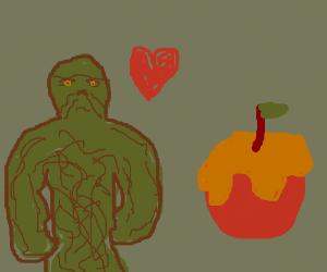 Shah, swampthing loves caramel apples