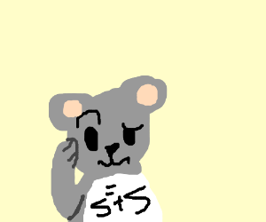 Mouse wonders what 2+2 is