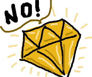 "Yellow diamond screaming ""No!"""