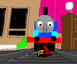 Thomas the Tank Engine from AntMan drawing by JTSharkAttack ... 85047eacd