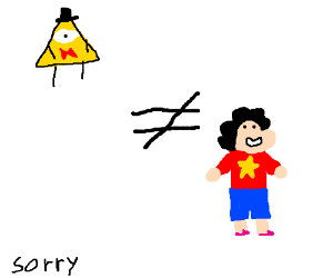 Bill cipher does not equal steven universe