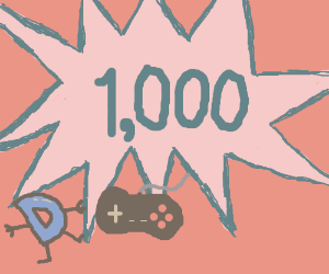 Congrats on 1,000 games, random person!