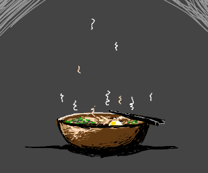 A steaming bowl of ramen
