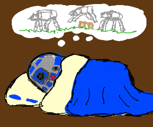 R2D2 is sleeping