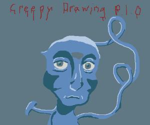 creepy drawing p.i.o.