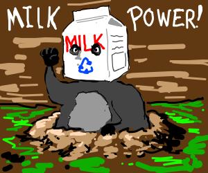 Gopher declares milk power!