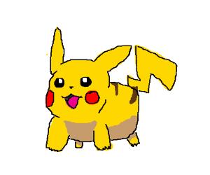Pikachu walks like a real animal