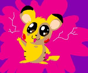 Pikachu has gone FULL HAMSTER
