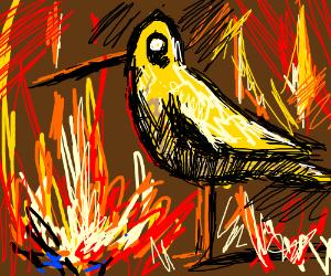 Big Bird in hell