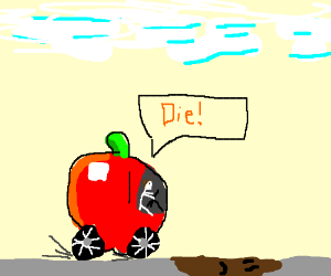 Fruit Car vs. Sad Puddle
