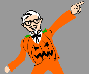 colonel sanders is ready for halloween disco