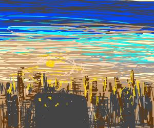 Dawn cityscape