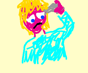 Pink Guy with a gun to his head!