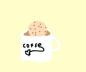 Cookie in a coffee mug