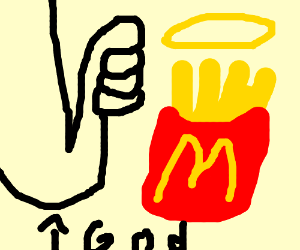 McDonalds fries are the holy trend