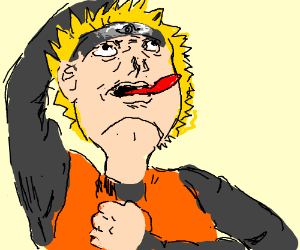 Derpy Naruto with tongue sticking out