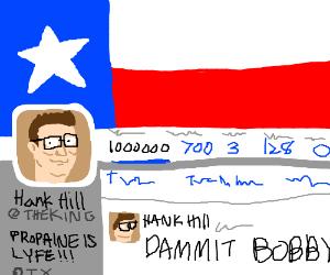 Hank Hill has a twitter.