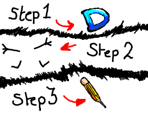 How to draw the Drawception mascot